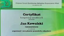 Certyfikacja kompetencji zawodowych